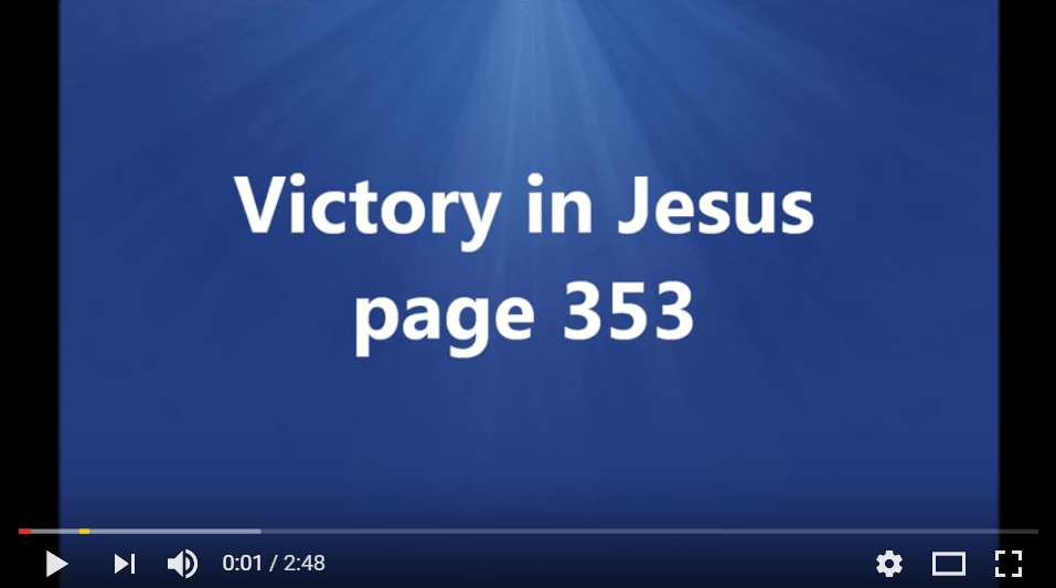 paradoxical christian teaching victory in jesus hymn